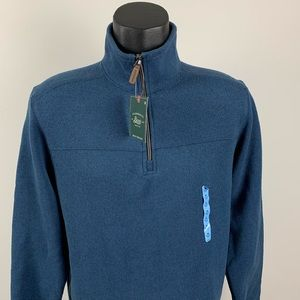 NWT G.H. Bass & Co. 1/4 Zip Pullover Sweater